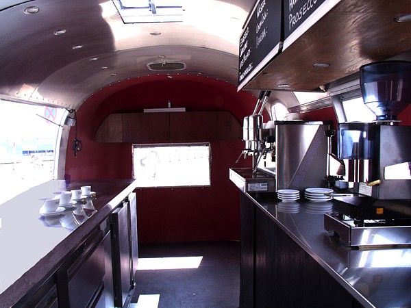 airstream gastronomie und caf anh nger catering unit for sale. Black Bedroom Furniture Sets. Home Design Ideas